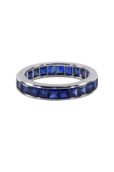 Oscar Heyman - Platinum Sapphire Guard Ring