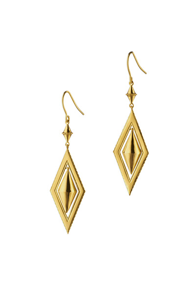 Monica Rich Kosann - Yellow Gold Diamond Shape Earrings