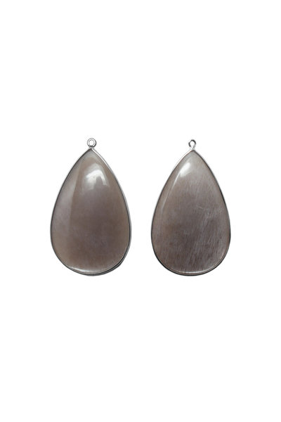Paolo Costagli - 18K White Gold Moonstone Feldspar Earring Pendants