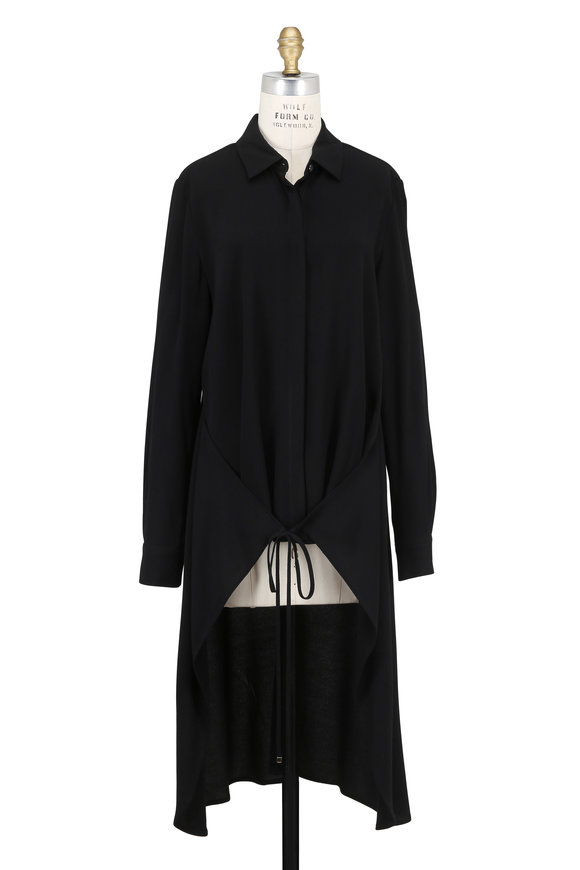 Rosetta Getty Black Apron Wrap Blouse
