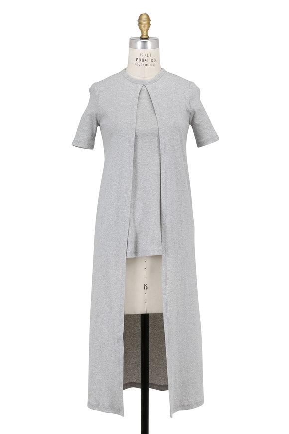 Rosetta Getty Light Gray Split Front Short Sleeve T-Shirt