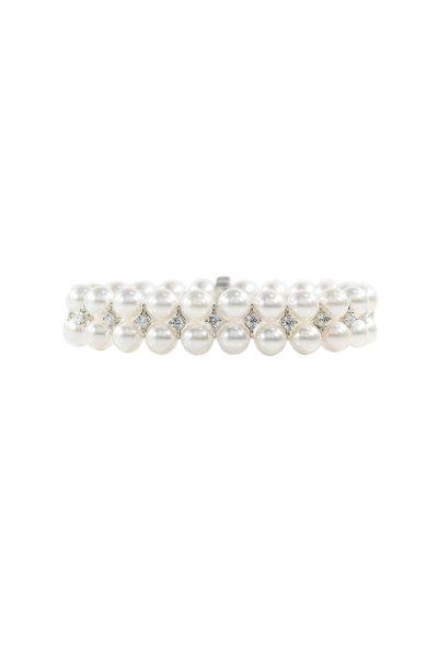 Oscar Heyman - Platinum Pearl & Diamond Bracelet