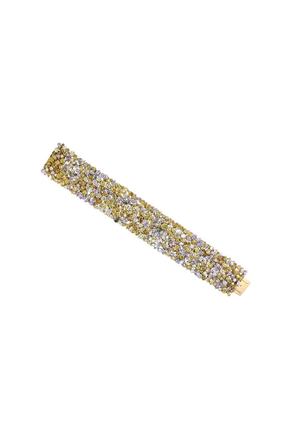 Oscar Heyman Platinum & Yellow Gold Fancy Diamond Bracelet