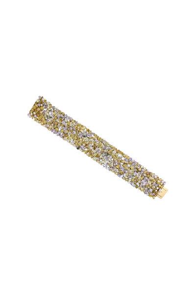 Oscar Heyman - Platinum & Yellow Gold Fancy Diamond Bracelet