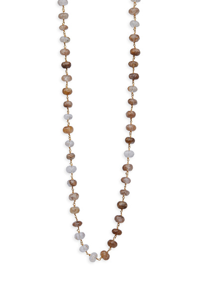 Emily & Ashley - Yellow Gold Rutilated Quartz Wire Wrap Necklace
