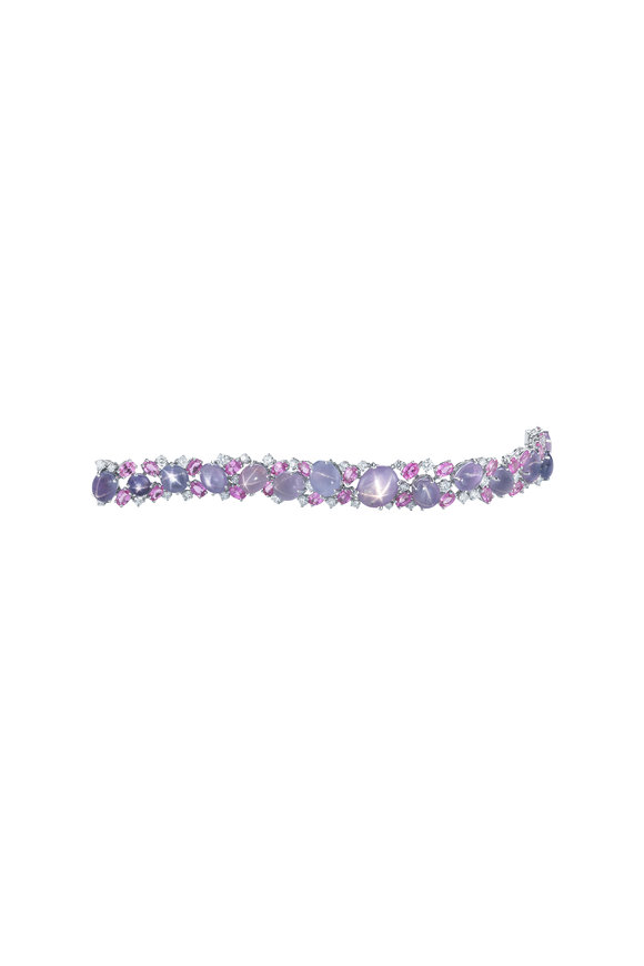 Oscar Heyman Platinum Star Sapphire Bracelet