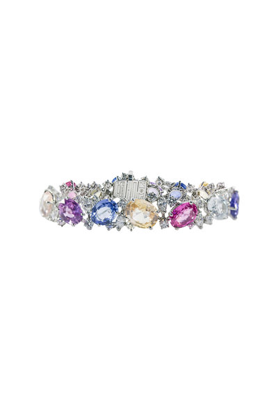 Oscar Heyman - Platinum Multicolor Sapphire Bracelet