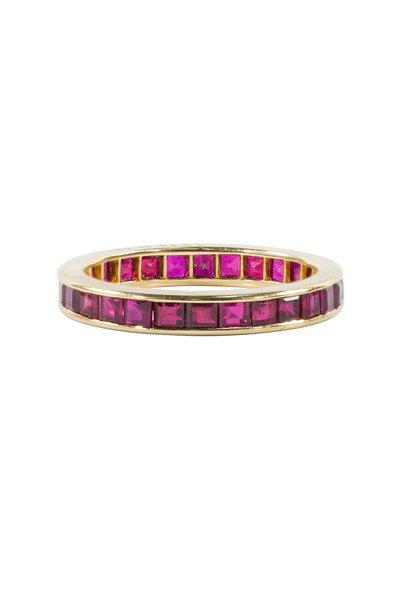 Oscar Heyman - Yellow Gold Ruby Guard Ring