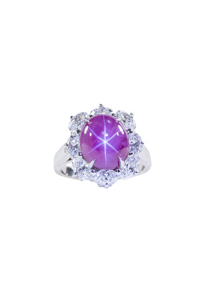 Oscar Heyman - Platinum Star Ruby & Diamond Ring