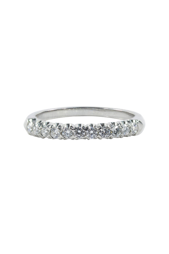 Oscar Heyman Platinum Diamond Fishtail Guard Ring