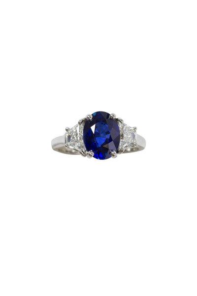 Oscar Heyman - Platinum Sapphire & Diamond Ring