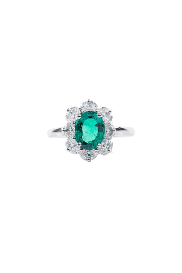 Oscar Heyman Platinum Emerald & Diamond Ring