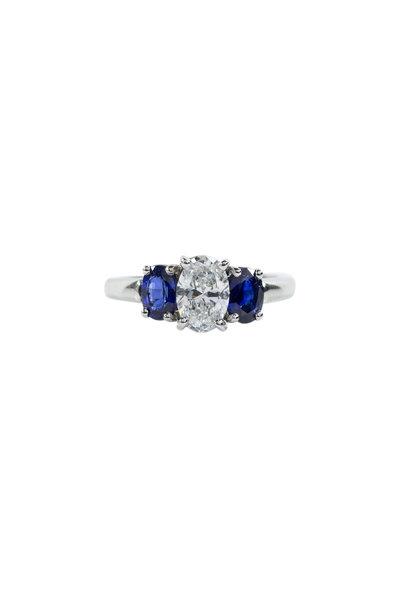 Oscar Heyman - Platinum Diamond & Sapphire Ring
