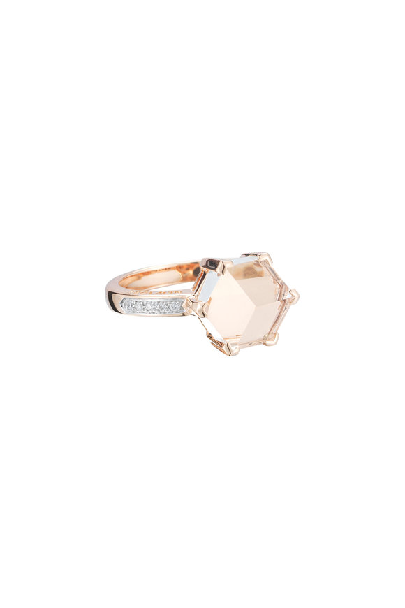 Paolo Costagli 18K Gold White Topaz & Diamonds Valentina Ring