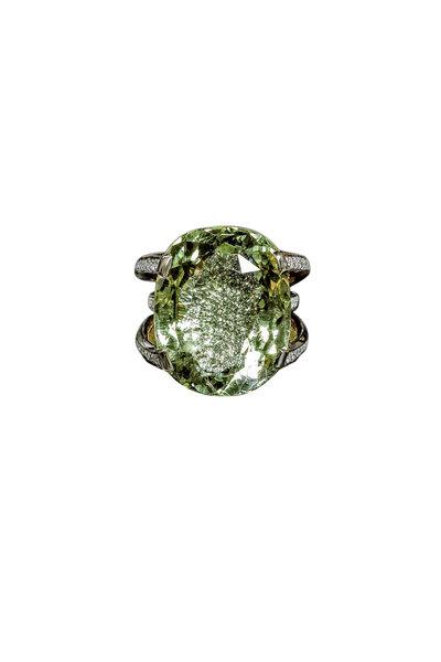 Paolo Costagli - 18K Yellow Gold Heliodor & Diamond Ring