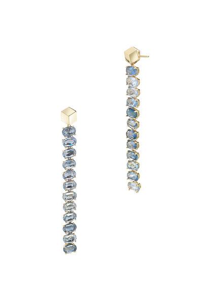 Paolo Costagli - 18K Yellow Gold Ombre Blue Sapphire Drop Earrings