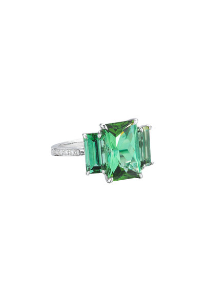 Paolo Costagli - 18K White Gold Green Tourmaline Ring