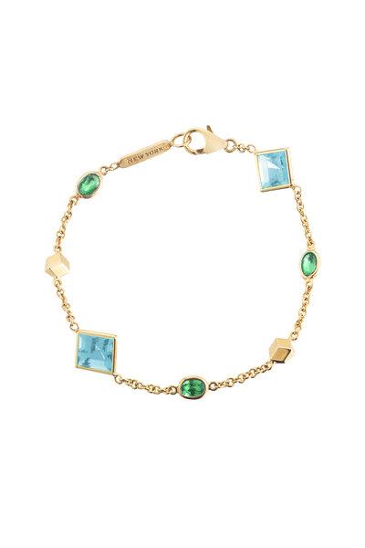 Paolo Costagli - 18K Gold Tsavorite & Spacer Brilliante Bracelet