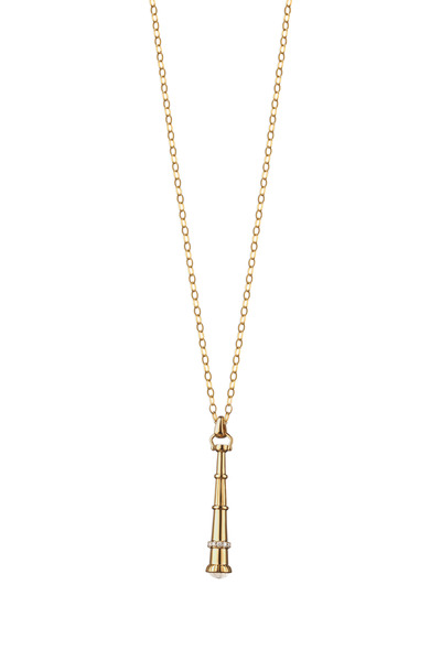 Monica Rich Kosann - 18K Yellow Gold Telescope Charm Necklace