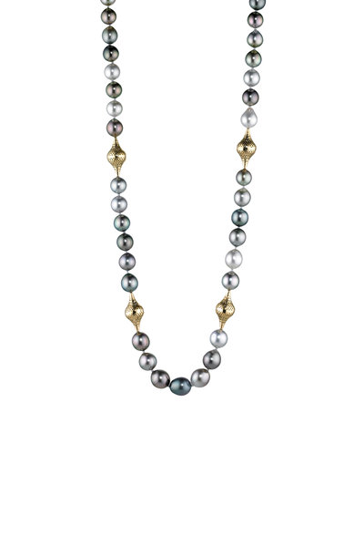 Ray Griffiths - 18K Yellow Gold Kunzite Beaded Necklace