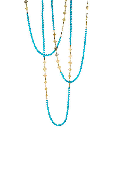 Ray Griffiths - Turquoise Triple Wrap Necklace