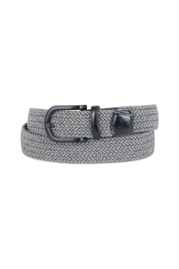 Torino Gray Woven Stretch Belt