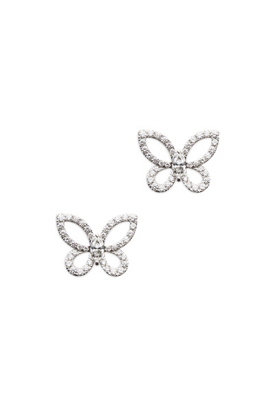 Graff - White Gold Marquise-Cut Diamond Butterfly Earrings