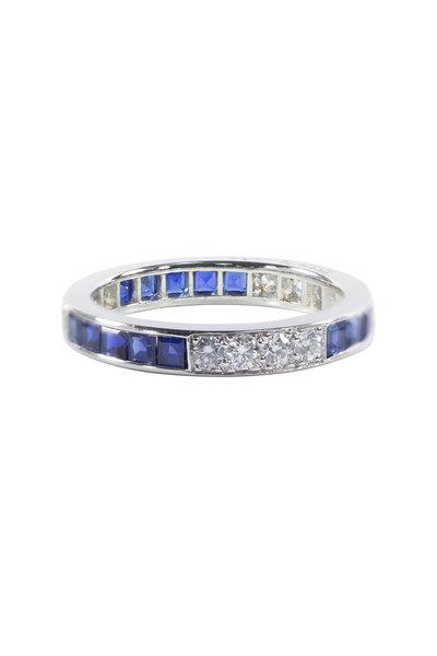 Oscar Heyman - Platinum Sapphire Diamond Band