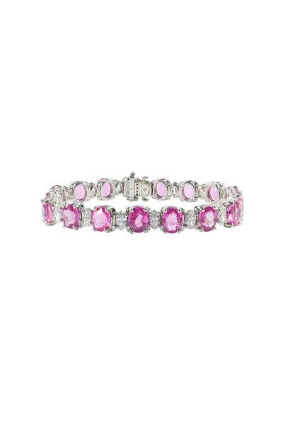 Oscar Heyman - Platinum Pink Sapphire & Diamond Bracelet