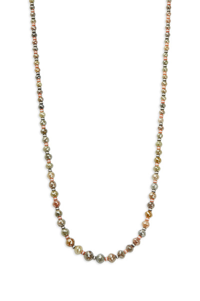 Fred Leighton - Black Jade, Coral & Cognac Diamond Bead Necklace