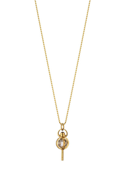 Monica Rich Kosann - Yellow Gold Carpe Diem Pocketwatch Key Necklace