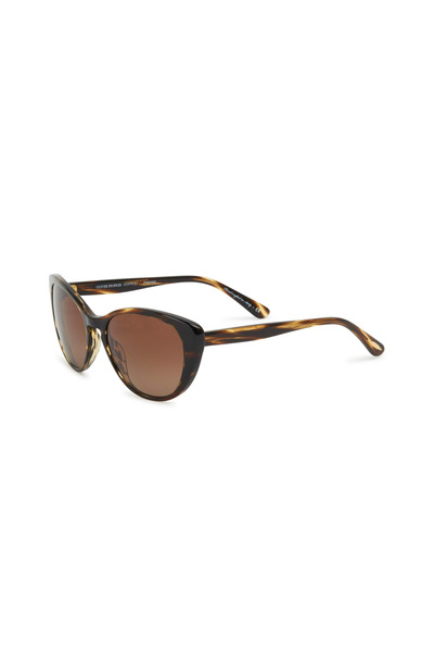 Oliver Peoples - Haley 55 Brown Tortoise Polarized Sunglasses