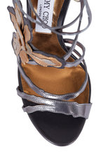 Jimmy Choo - Lolita Gray Mixed Metallic Leather Sandal, 100mm