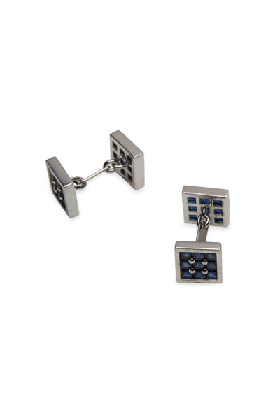 Graff - Platinum & Gold Sapphire Double Sided Cuff Links