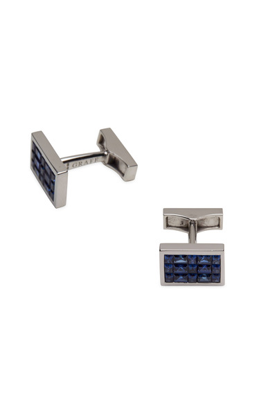 Graff - White Gold Blue Sapphire Cuff Links