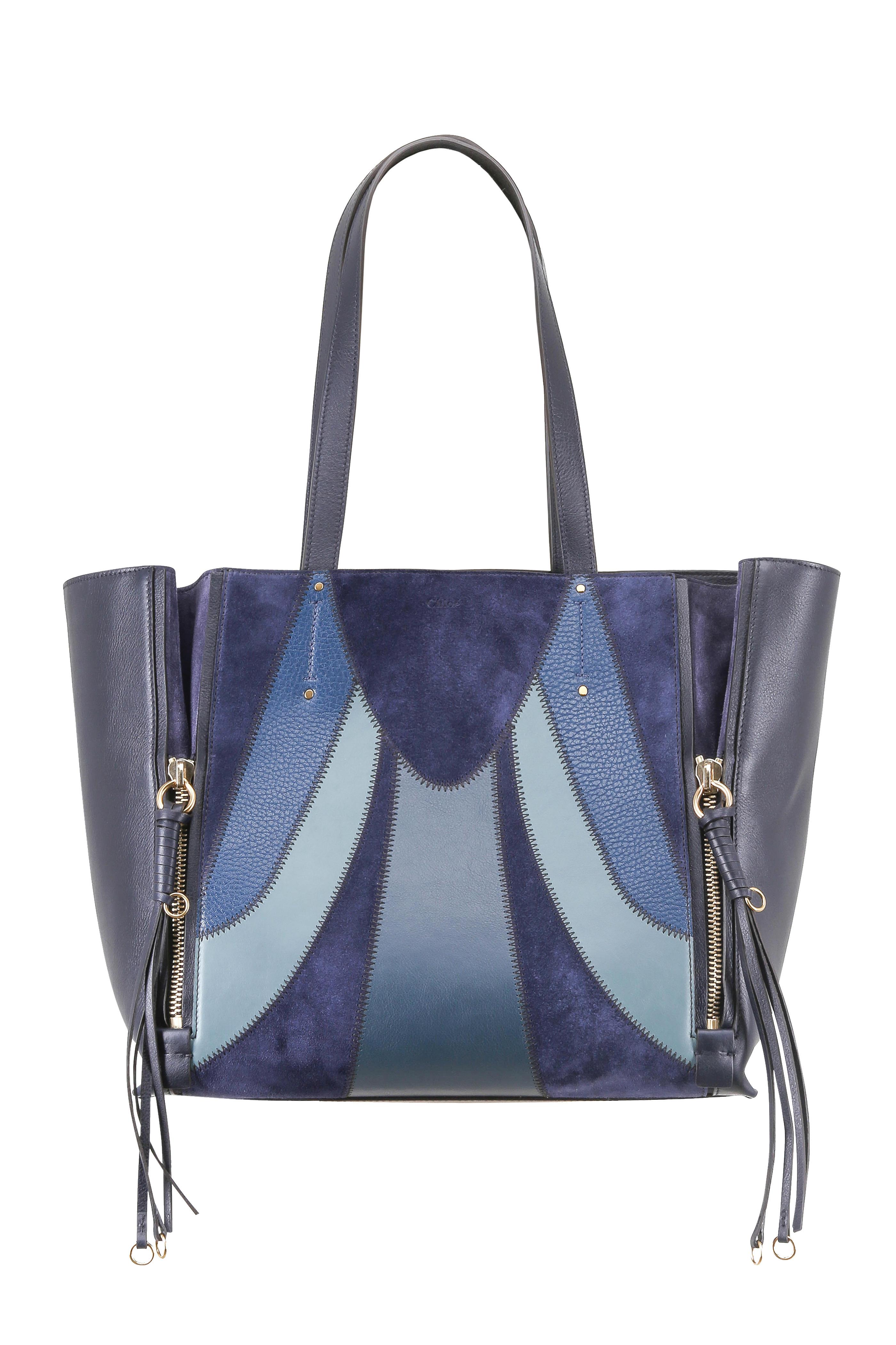 c6164c52 Chloe Blue Suede Handbag