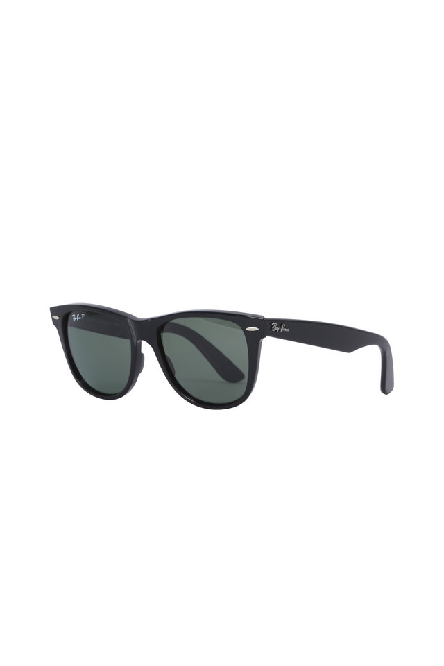 Polarized Green Wayfarer Sunglasses