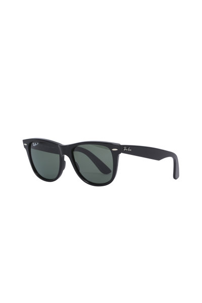 Ray Ban - Polarized Green Wayfarer Sunglasses