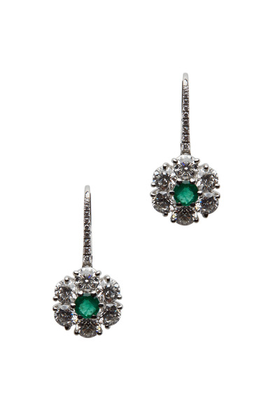 Graff - Platinum Emerald Earrings