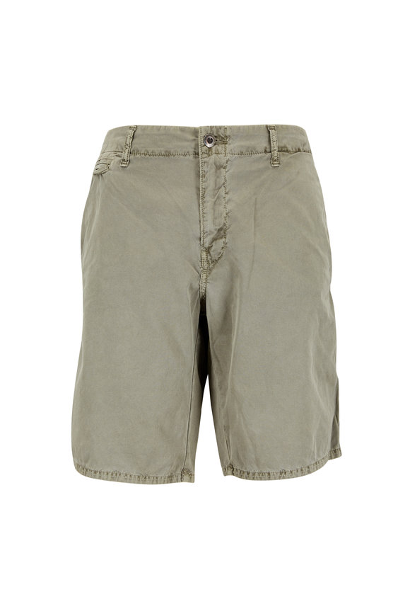 Original Paperbacks St. Barts Olive Green Corded Cotton Shorts