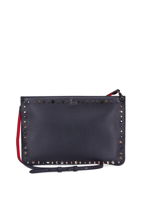 Christian Louboutin Loubiposh Black Leather Multi-Stud Clutch
