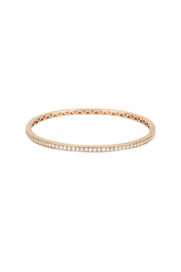 Kai Linz 18K Rose Gold Diamond Bangle