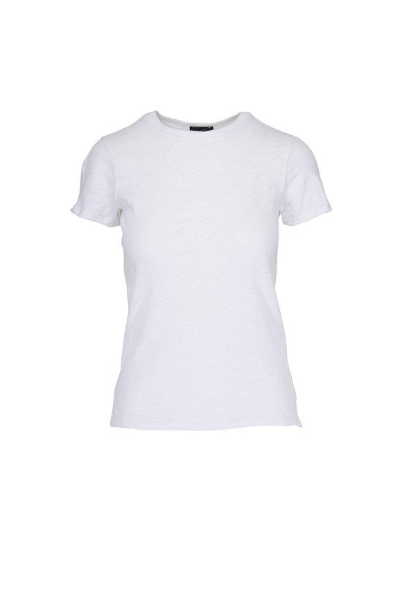 A T M Schoolboy White Slub Crewneck T-Shirt