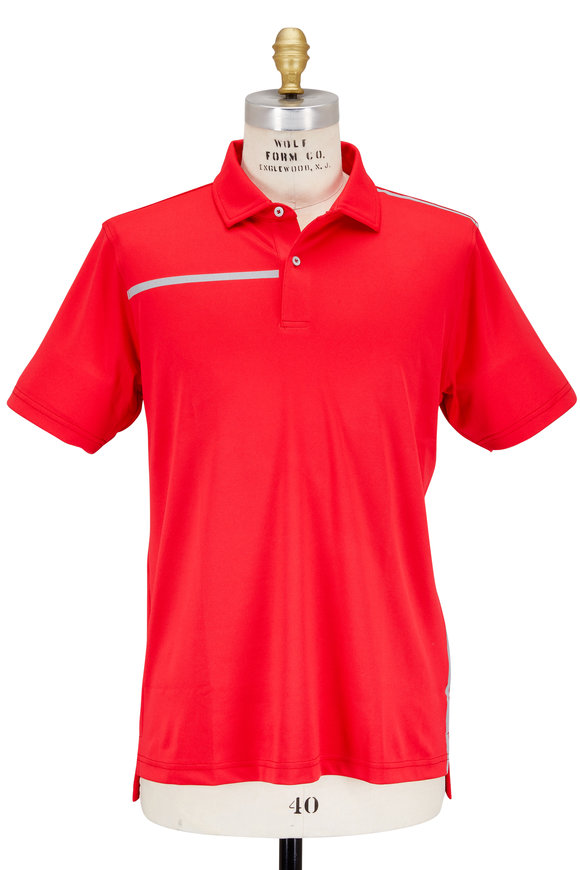 Zero Restriction  The Stewert Triumph Red Tech Performance Polo