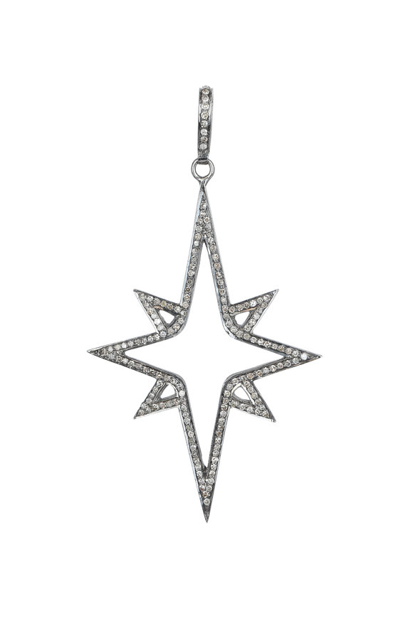 Kai Linz Silver Diamond North Star Pendant