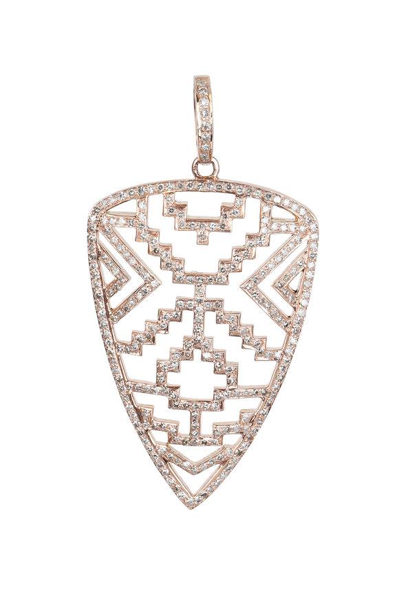 Kai Linz 14K Rose Gold Diamond Arrowhead Pendant