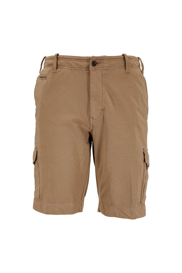 Thaddeus Apparel Carlton Light Brown Terry Cargo Shorts
