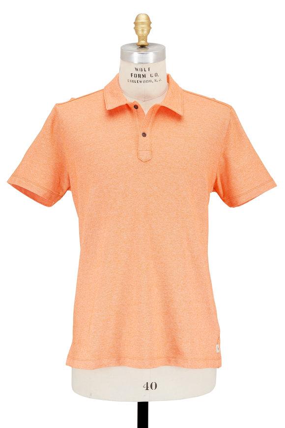 Agave Lux Hoh River Orange Piqué Polo
