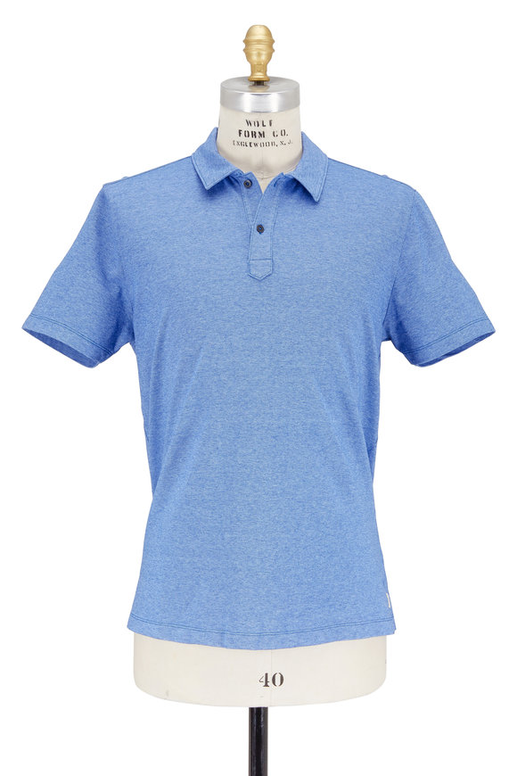 Agave Lux Hoh River Chambray Blue Piqué Polo