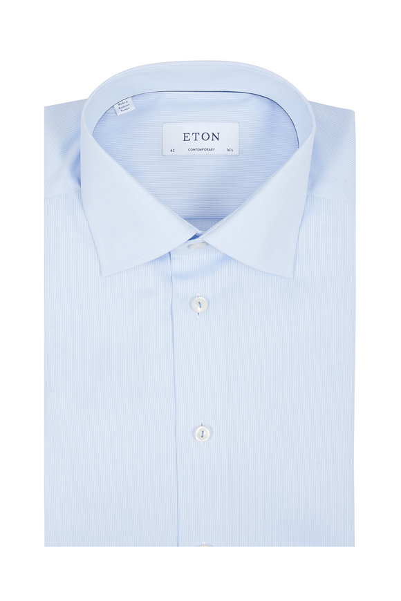 Eton Light Blue Contemporary Fit Dress Shirt